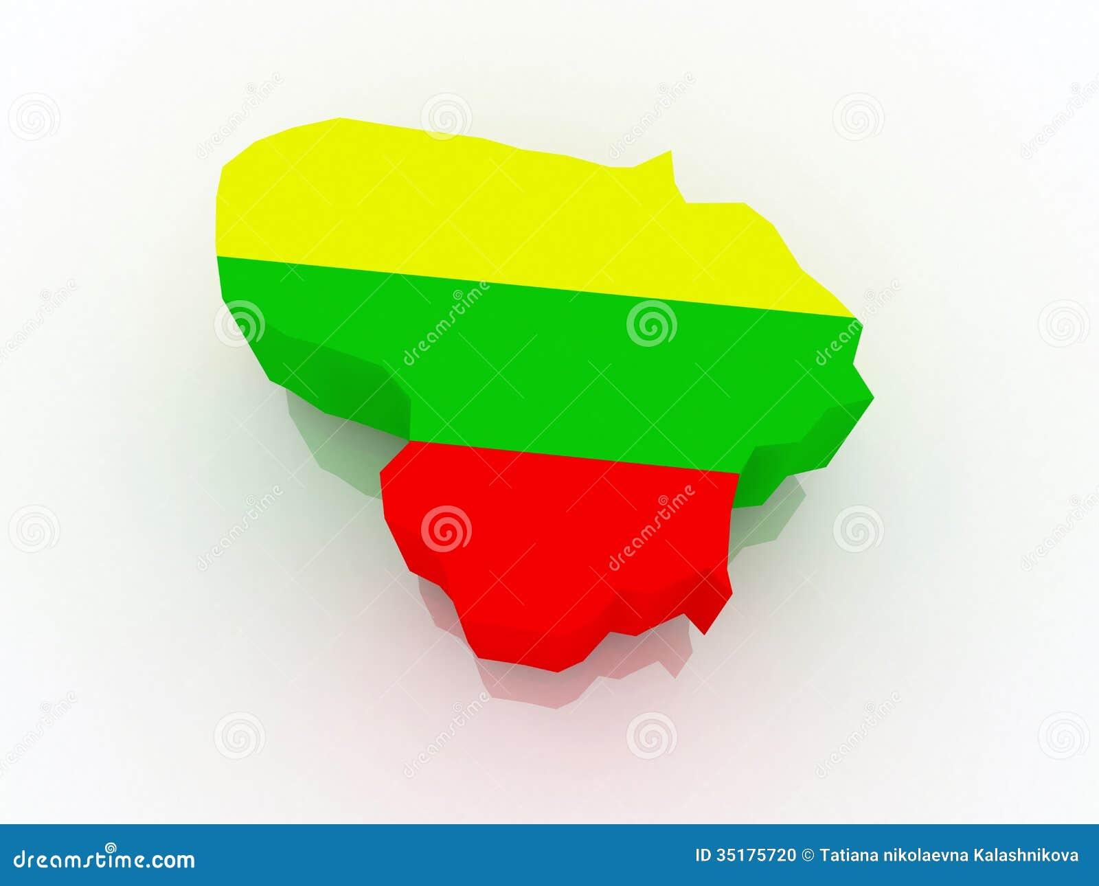 Mapa de Lituania.
