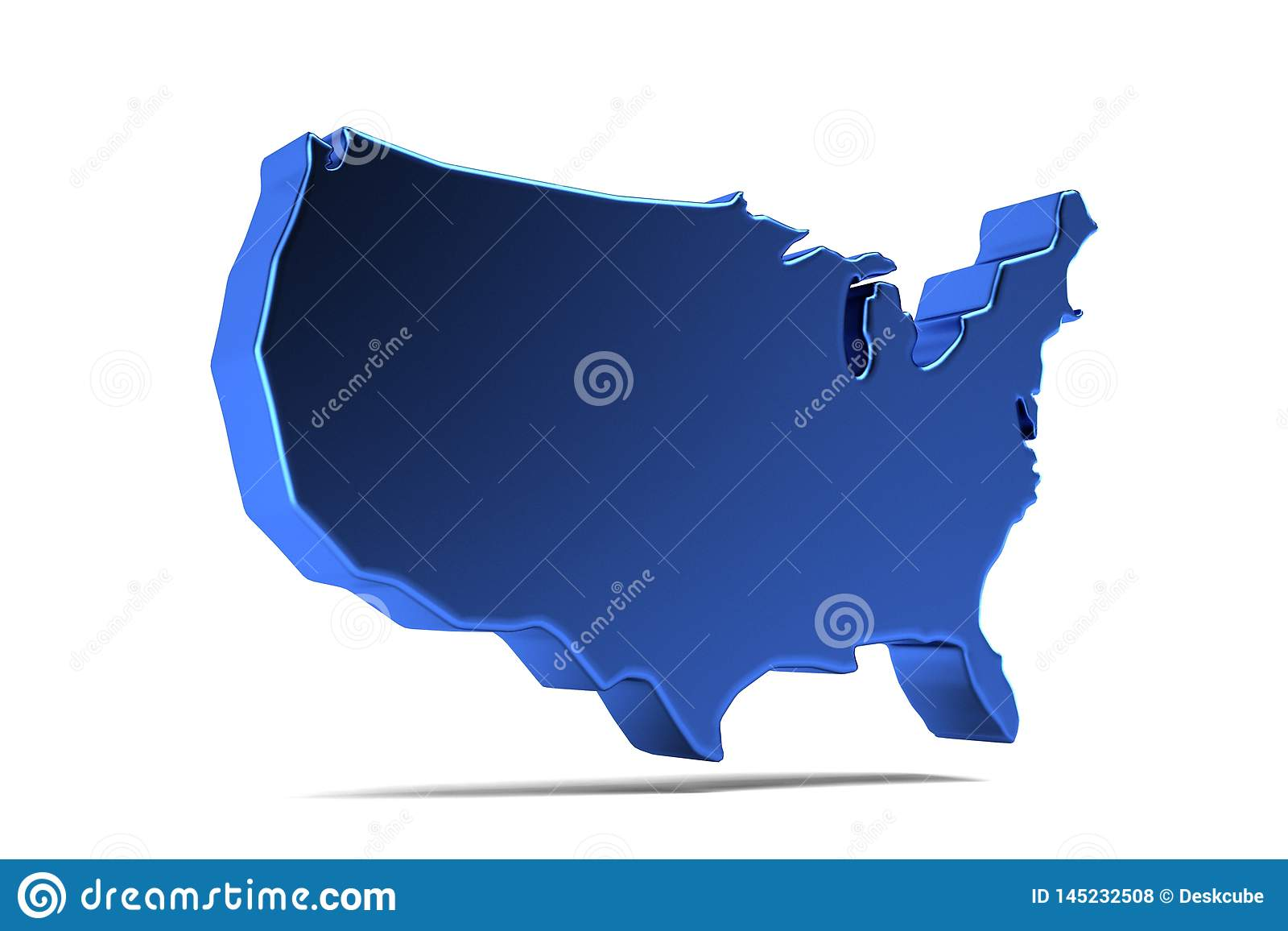 Mapa de los E.E.U.U. Estados Unidos 3d rinden la ilustraci?n