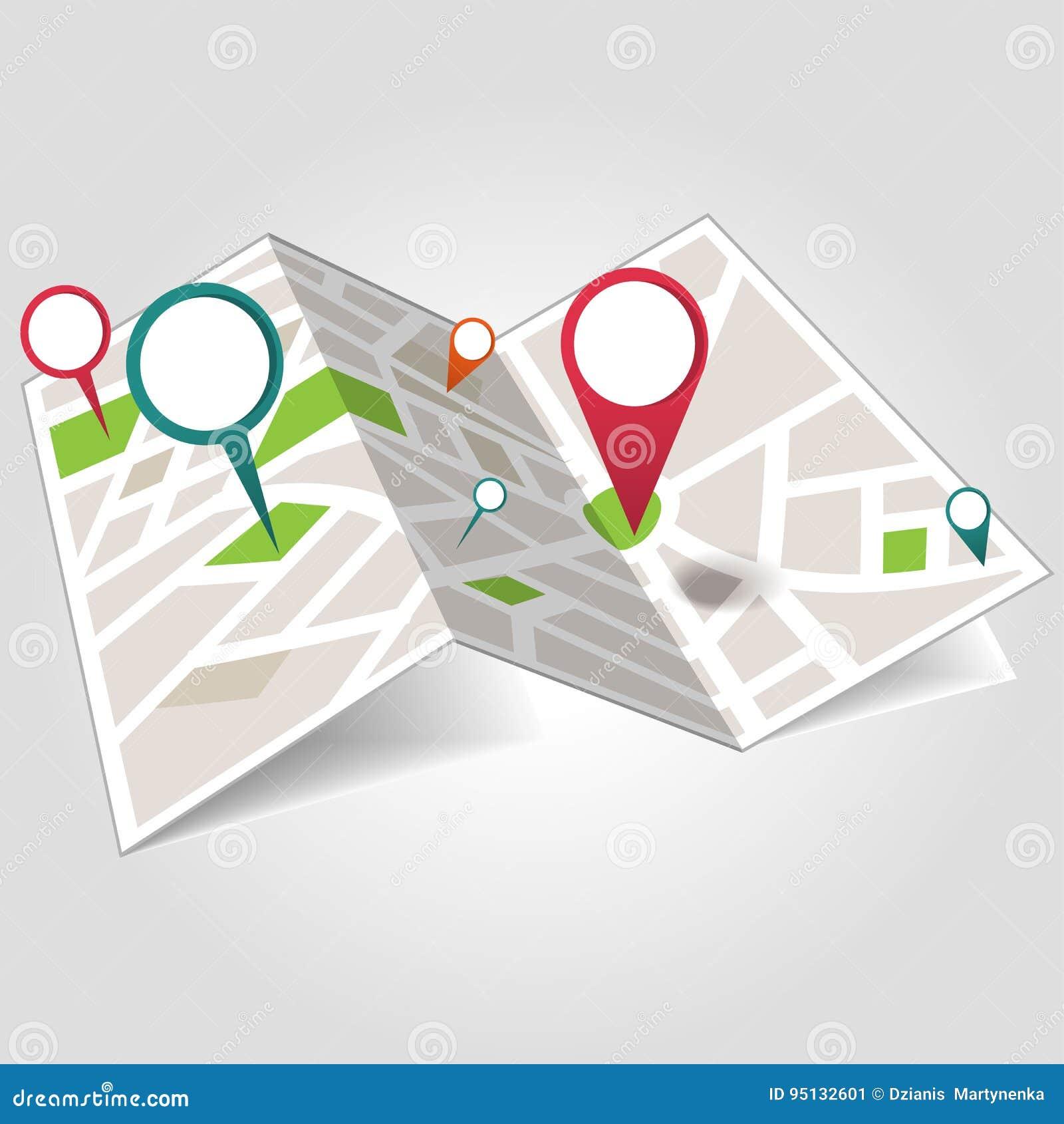 Mapa de lugar isométrico