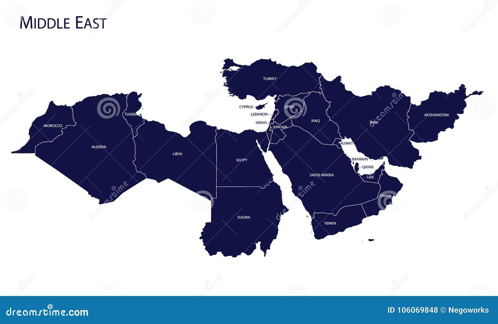 Mapa de Médio Oriente