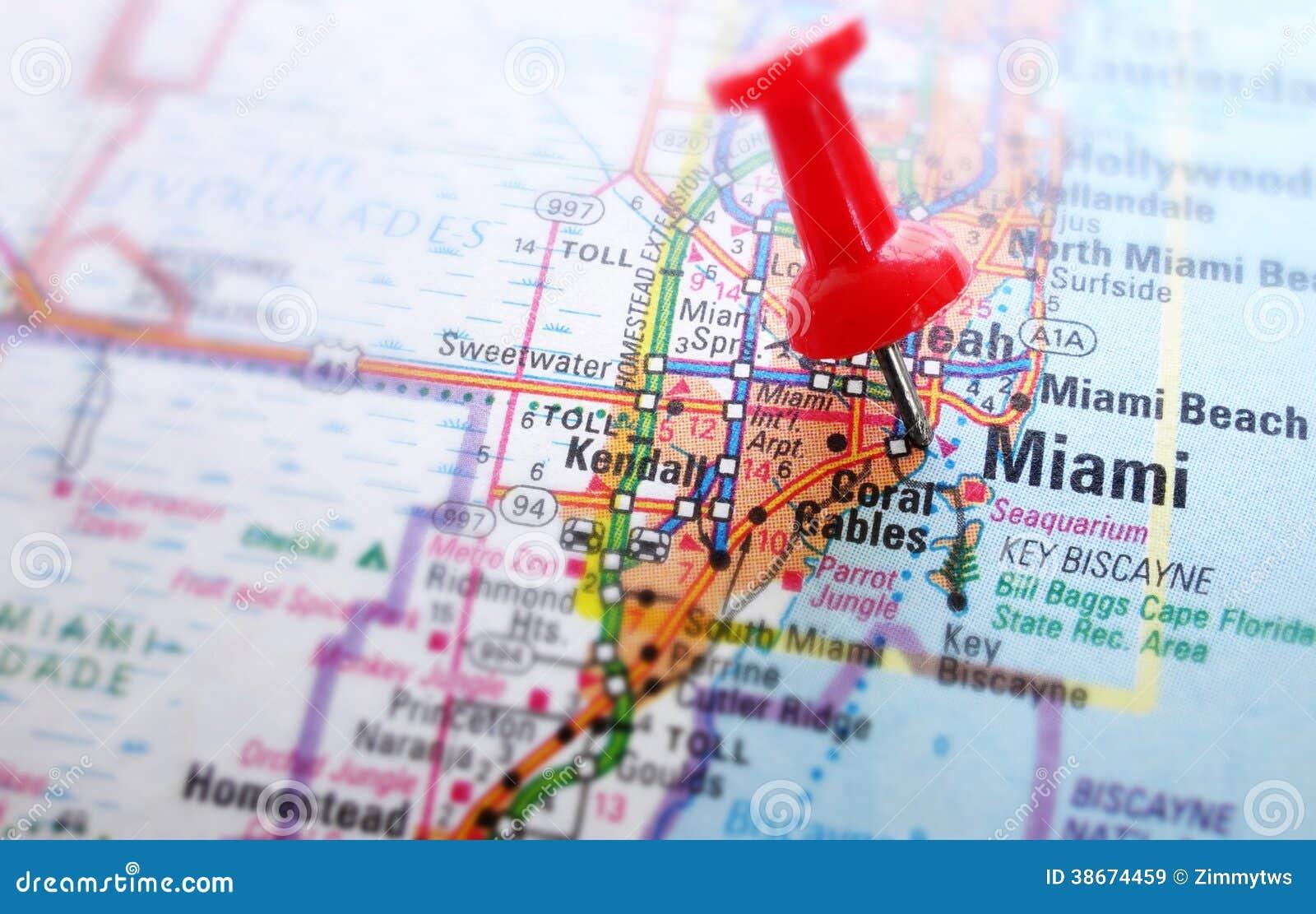 mapa de miami imagem de stock. imagem de olhar, achado