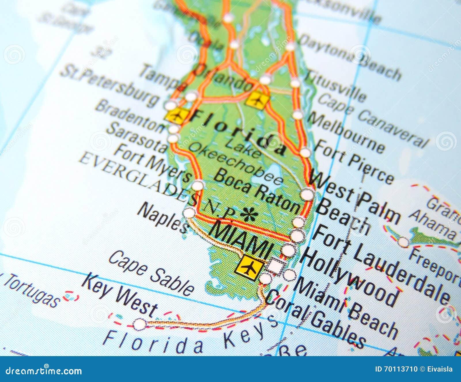 mapa de miami foto de archivo. imagen de hombre, selectivo