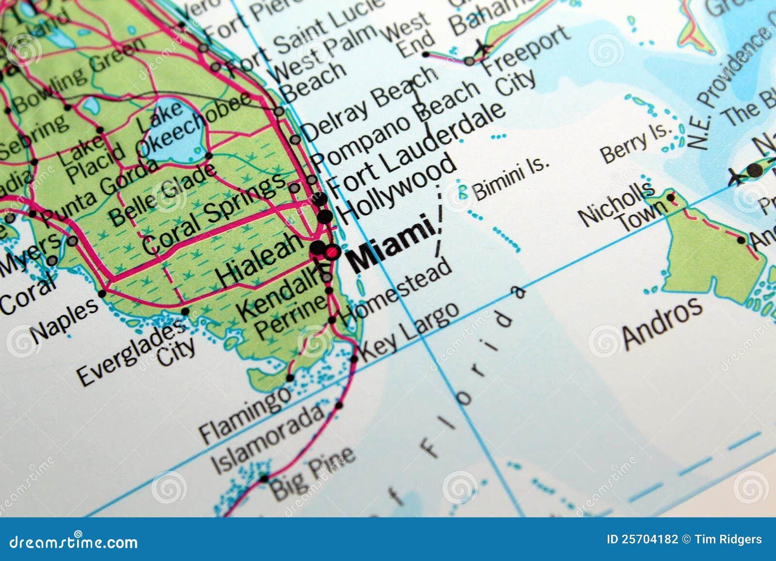 mapa de miami, florida foto de stock. imagem de florida