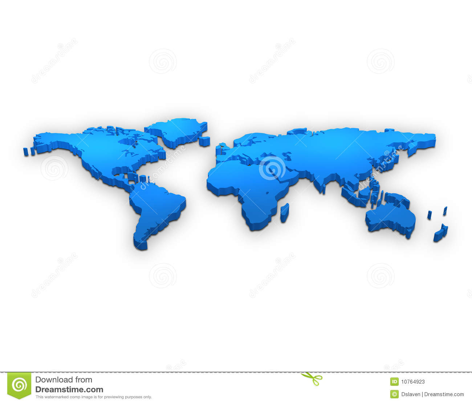 Mapa de mundo 3d