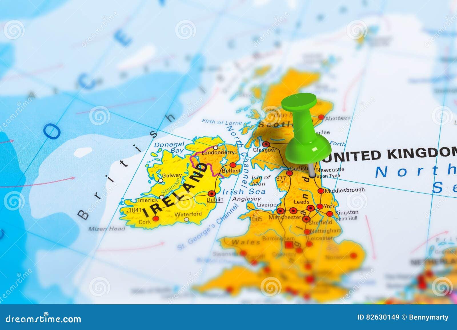Mapa De Newcastle Escocia Imagen De Archivo Imagen De Pais 82630149