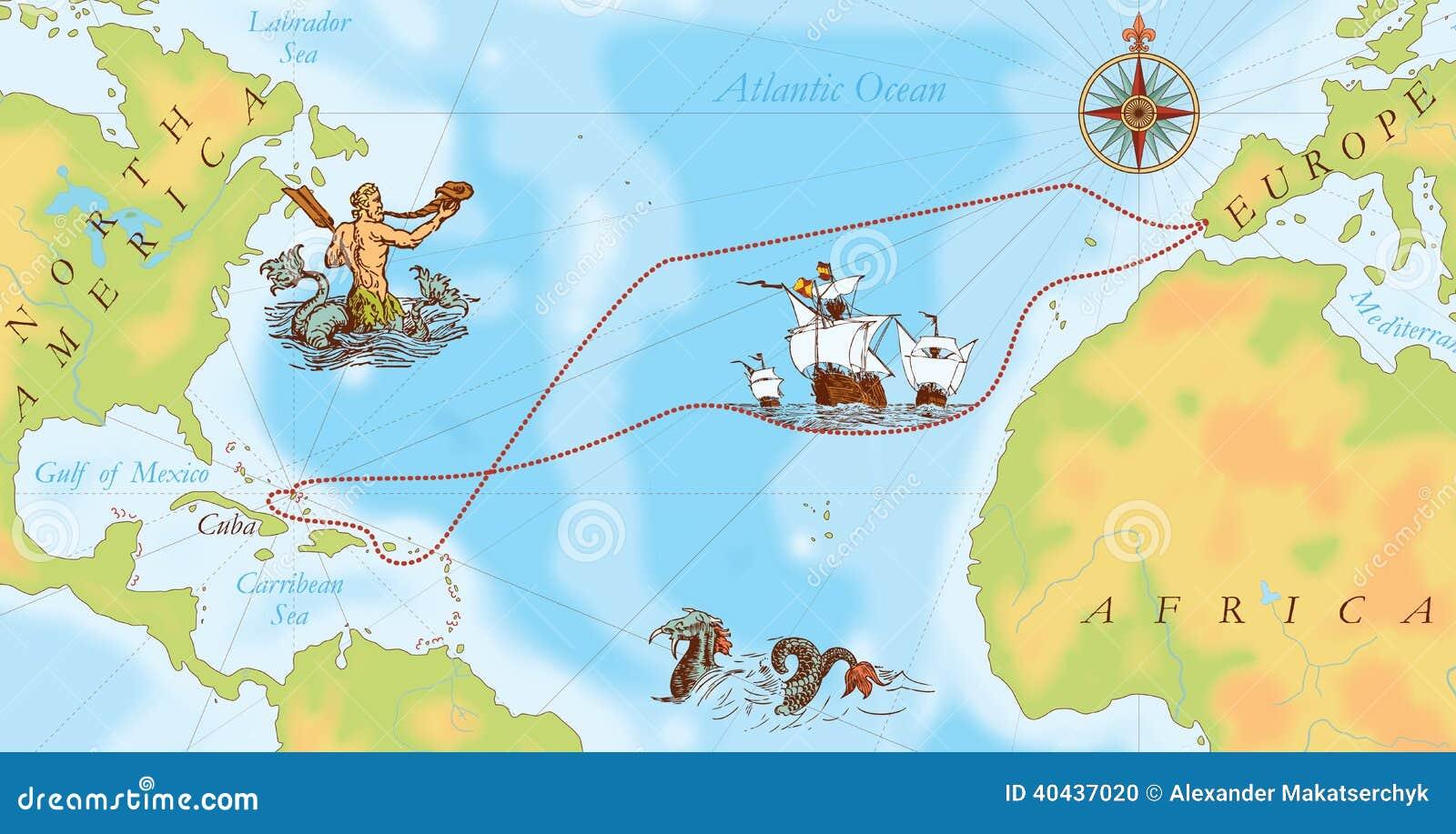 Mapa de Old Navy. Manera de Christopher Columbus
