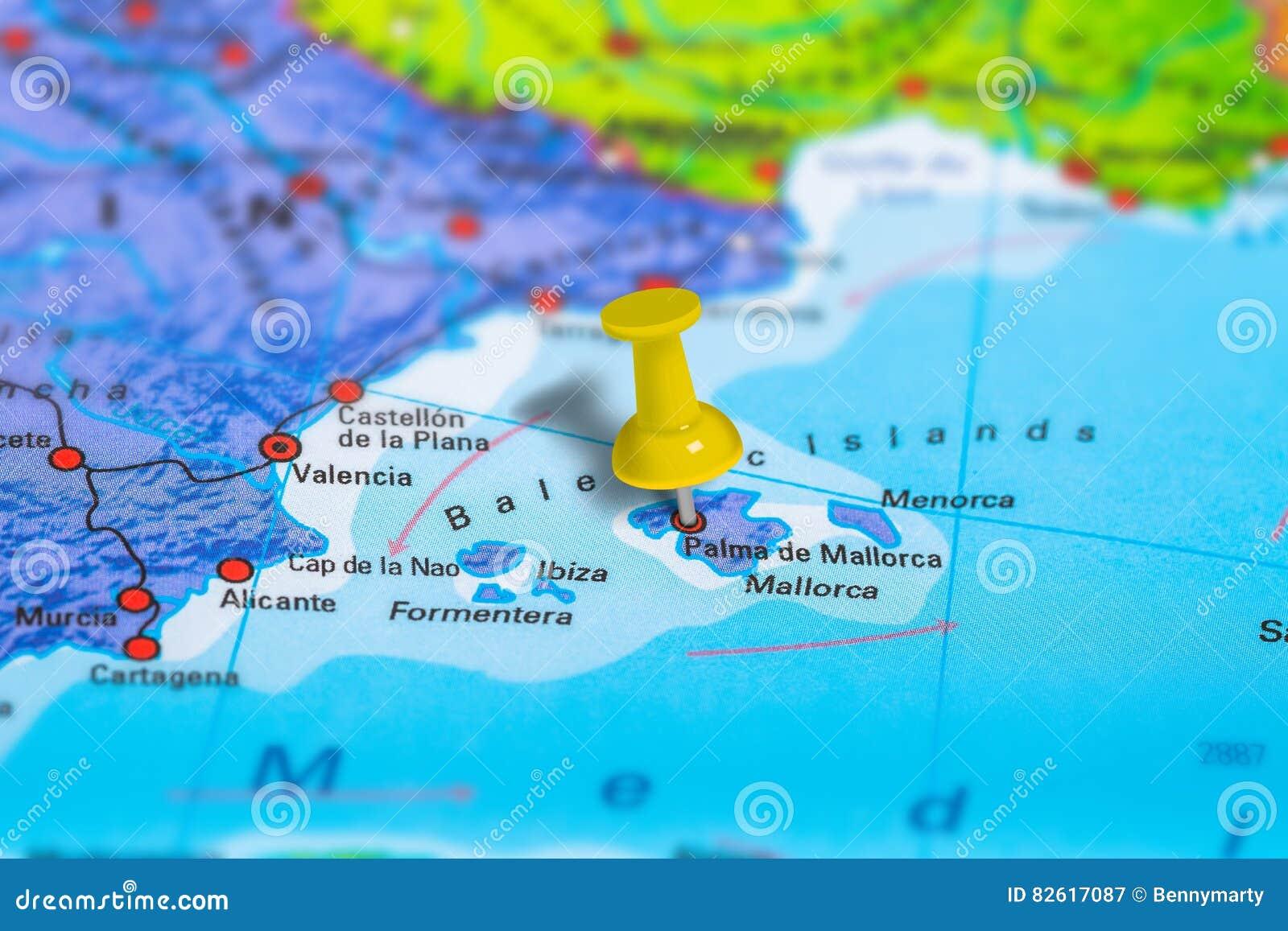 Mapa De Palma De Mallorca Spain Imagem De Stock Imagem De