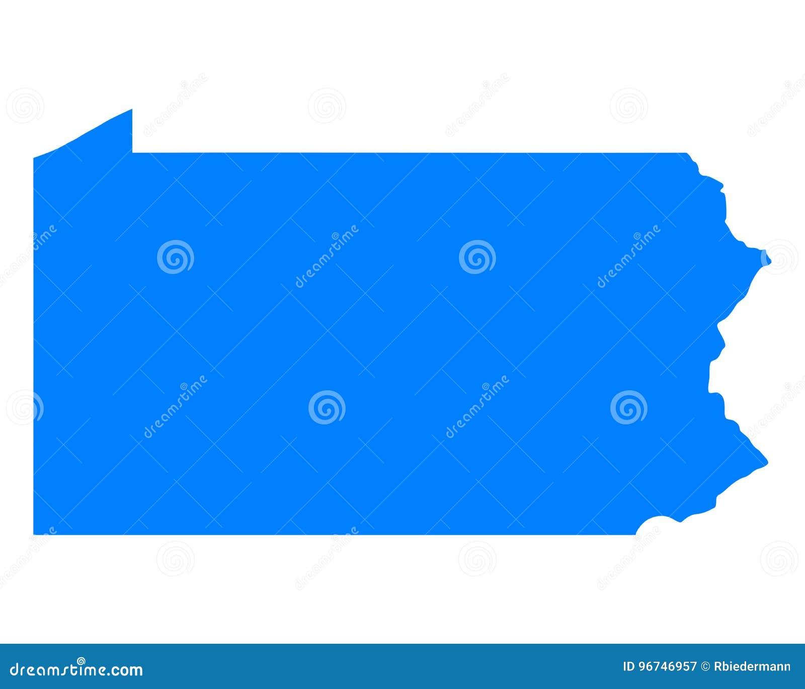 Mapa de Pensilvânia