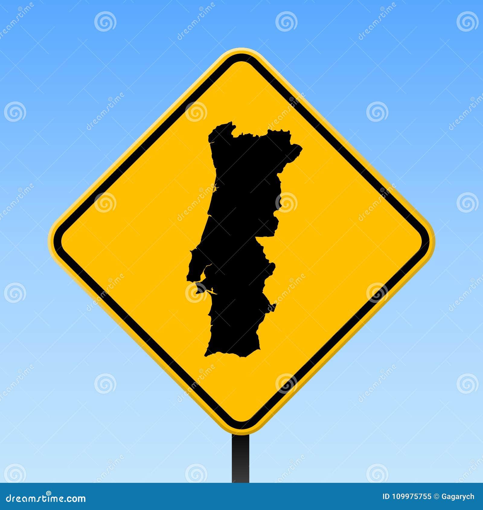 mapa de portugal estradas download Mapa De Portugal No Sinal De Estrada Ilustração do Vetor  mapa de portugal estradas download