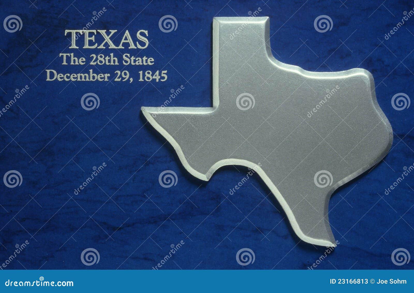 Mapa de prata de Texas