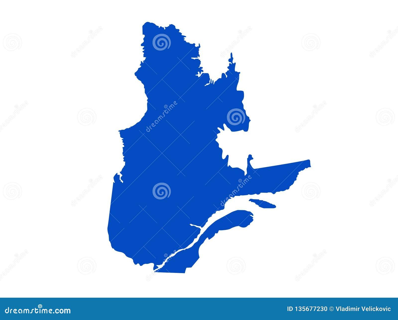 Mapa de Quebec - la provincia y el territorio más grandes de Canadá