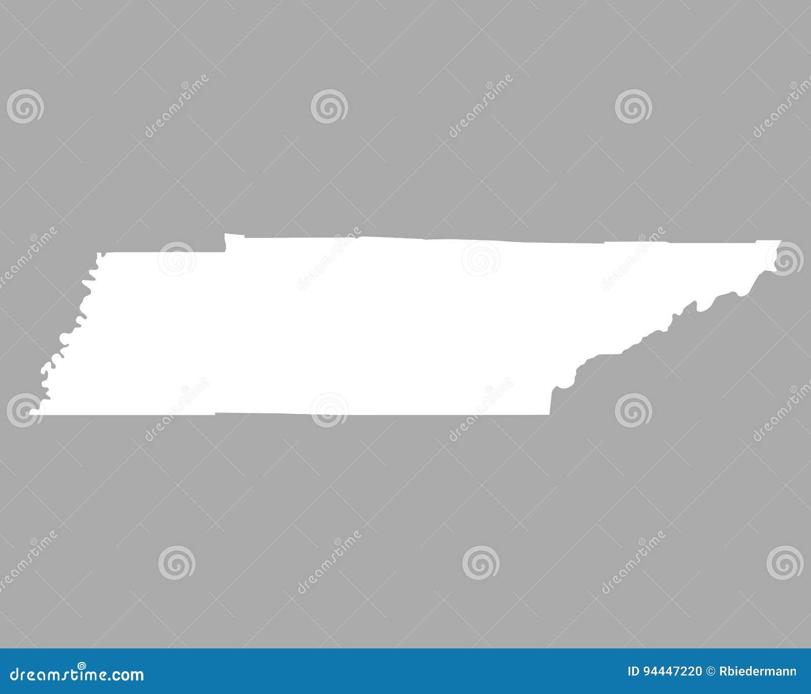 Mapa de Tennessee ilustración del vector. Ilustración de vector ...