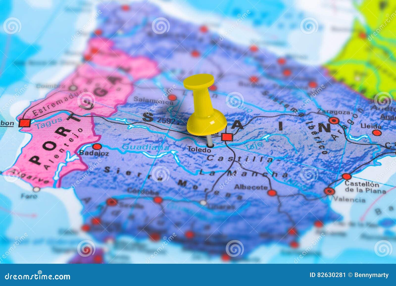 Mapa De Toledo Spain Imagem De Stock Imagem De Geopolitical
