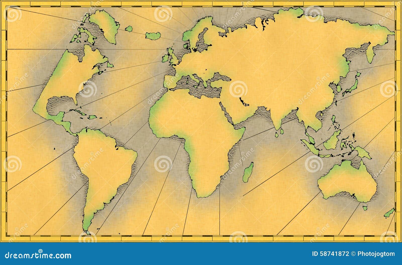 Lujo Mundo Marco Del Mapa De Fotos Friso - Ideas Personalizadas de ...