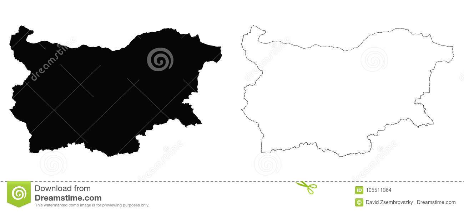 Mapa del esquema de Bulgaria