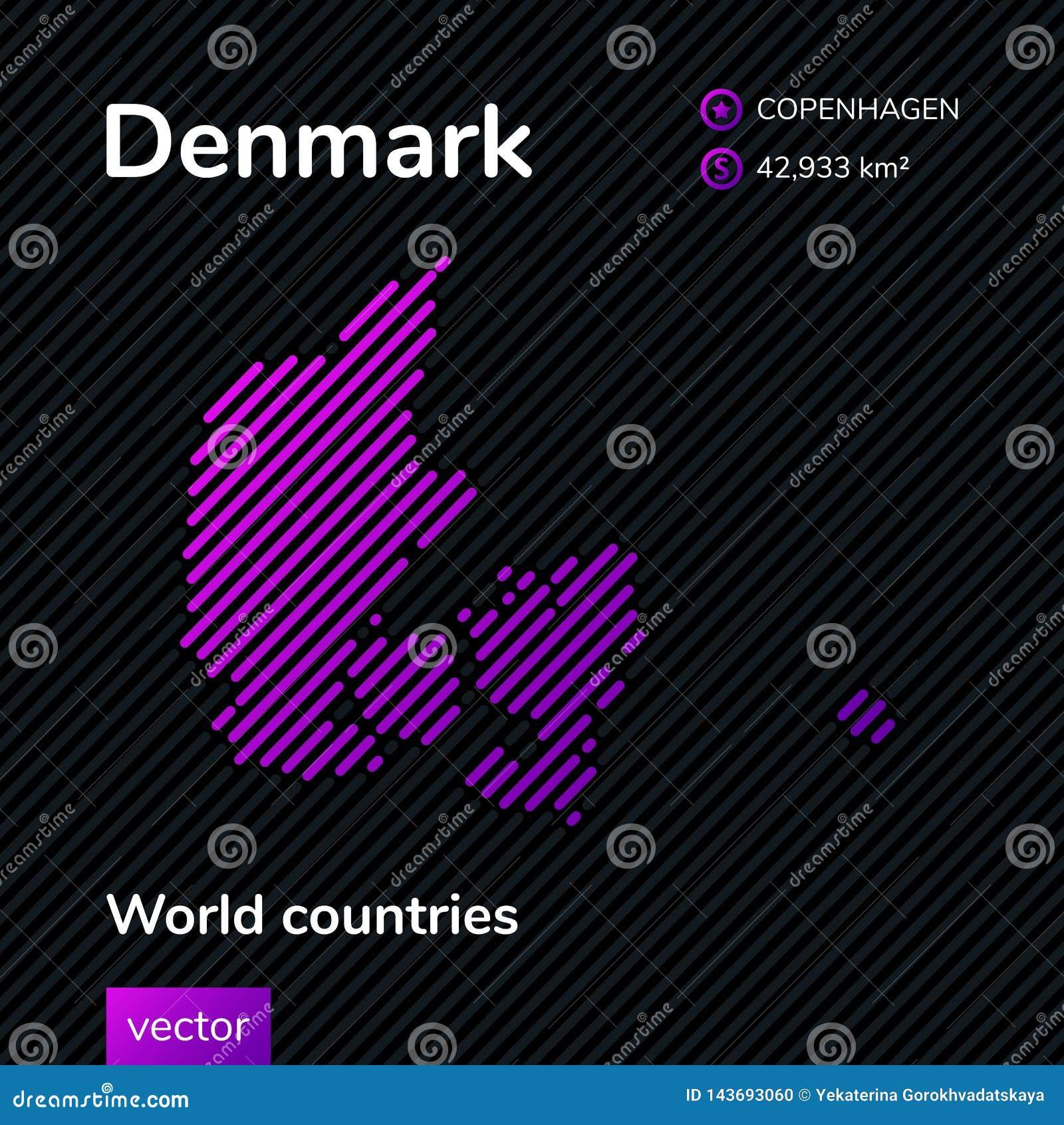 Mapa del extracto del vector de Dinamarca