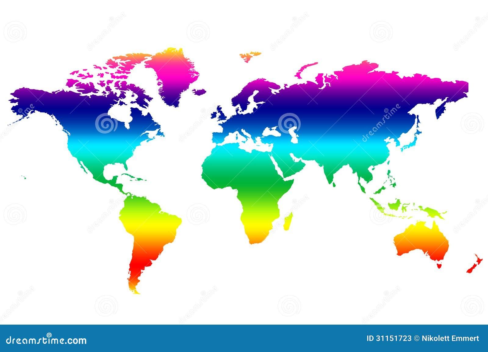 Mapa del mundo coloreado stock de ilustraci n imagen de for Mapa del mundo decoracion