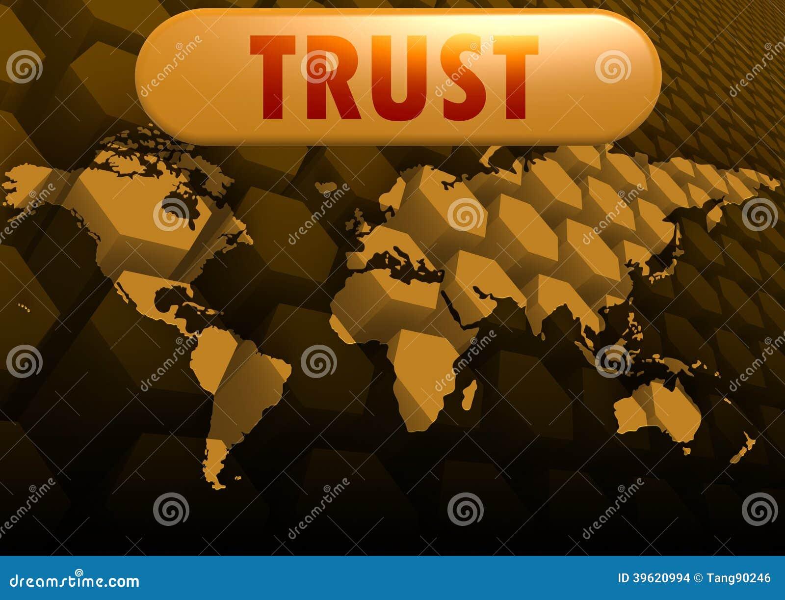 Mapa del mundo de la confianza