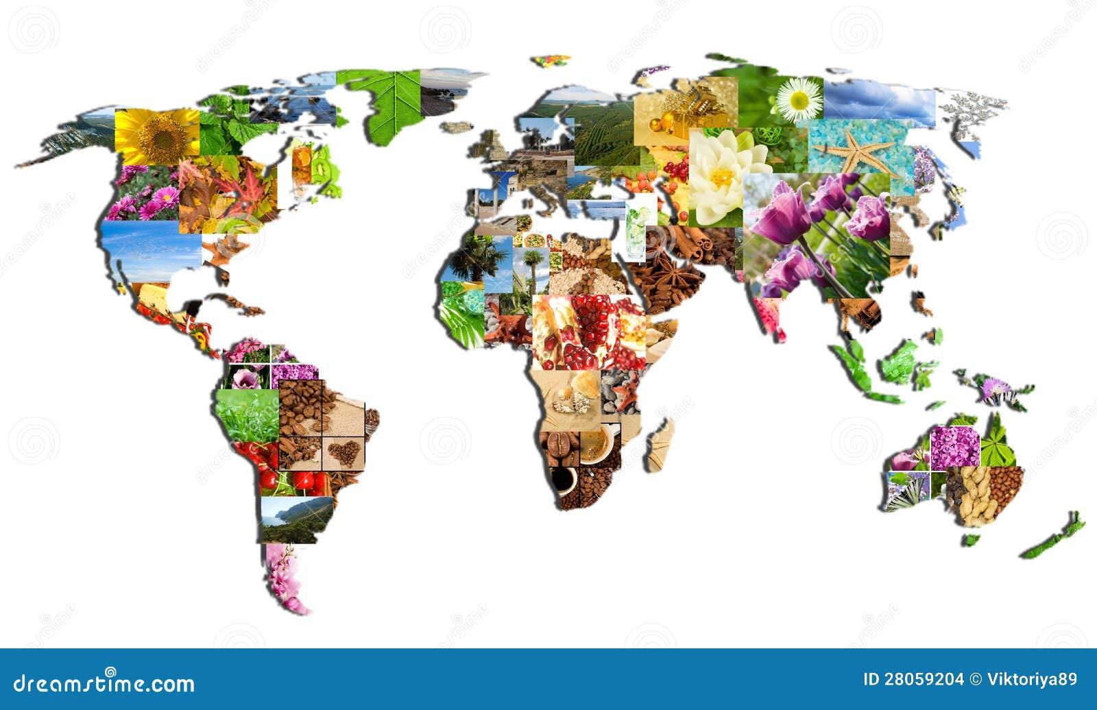 Mapa del mundo de las muchas fotograf as foto de archivo - Papel pintado mapa del mundo ...