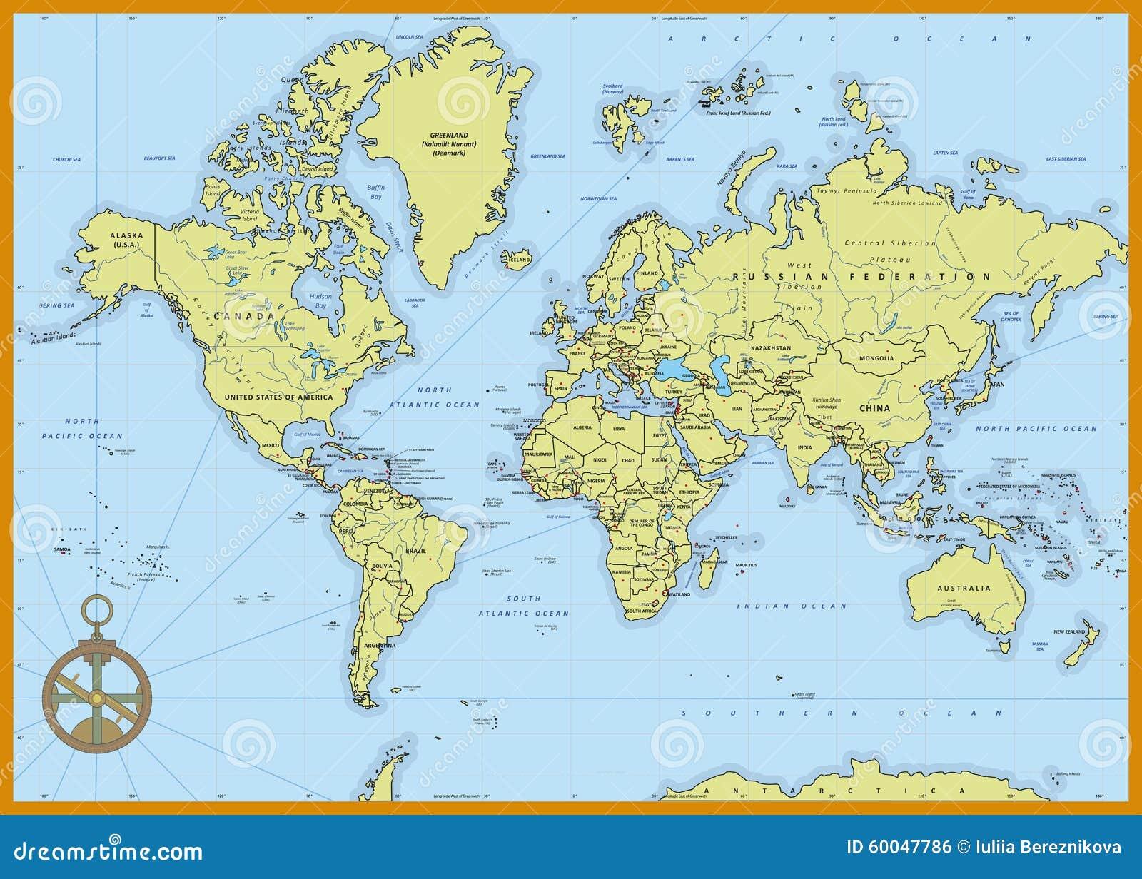 Mapa del mundo político detallado