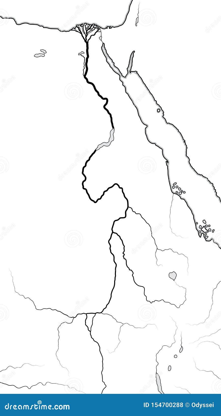 Mapa Del Mundo Del Valle Y Del Delta Del Rio Nilo Africa Egipto