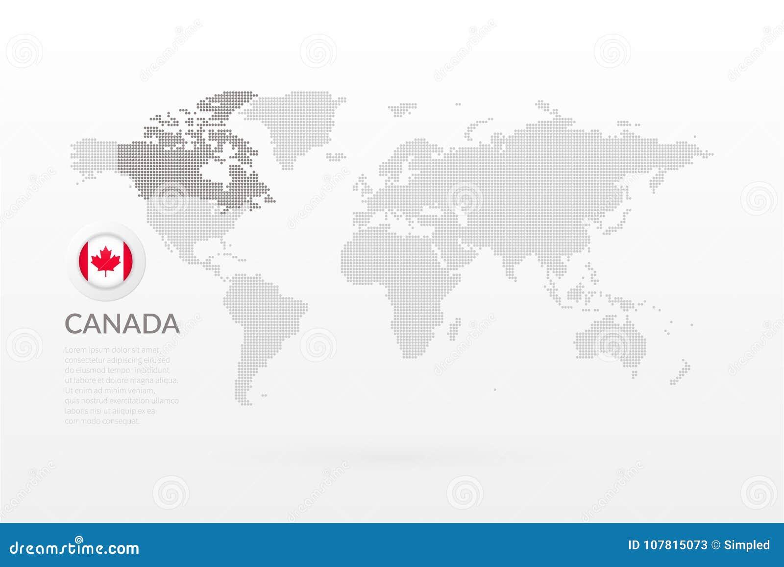 Mapa Del Mundo Del Vector Infographic Con Símbolo De La Hoja De ...
