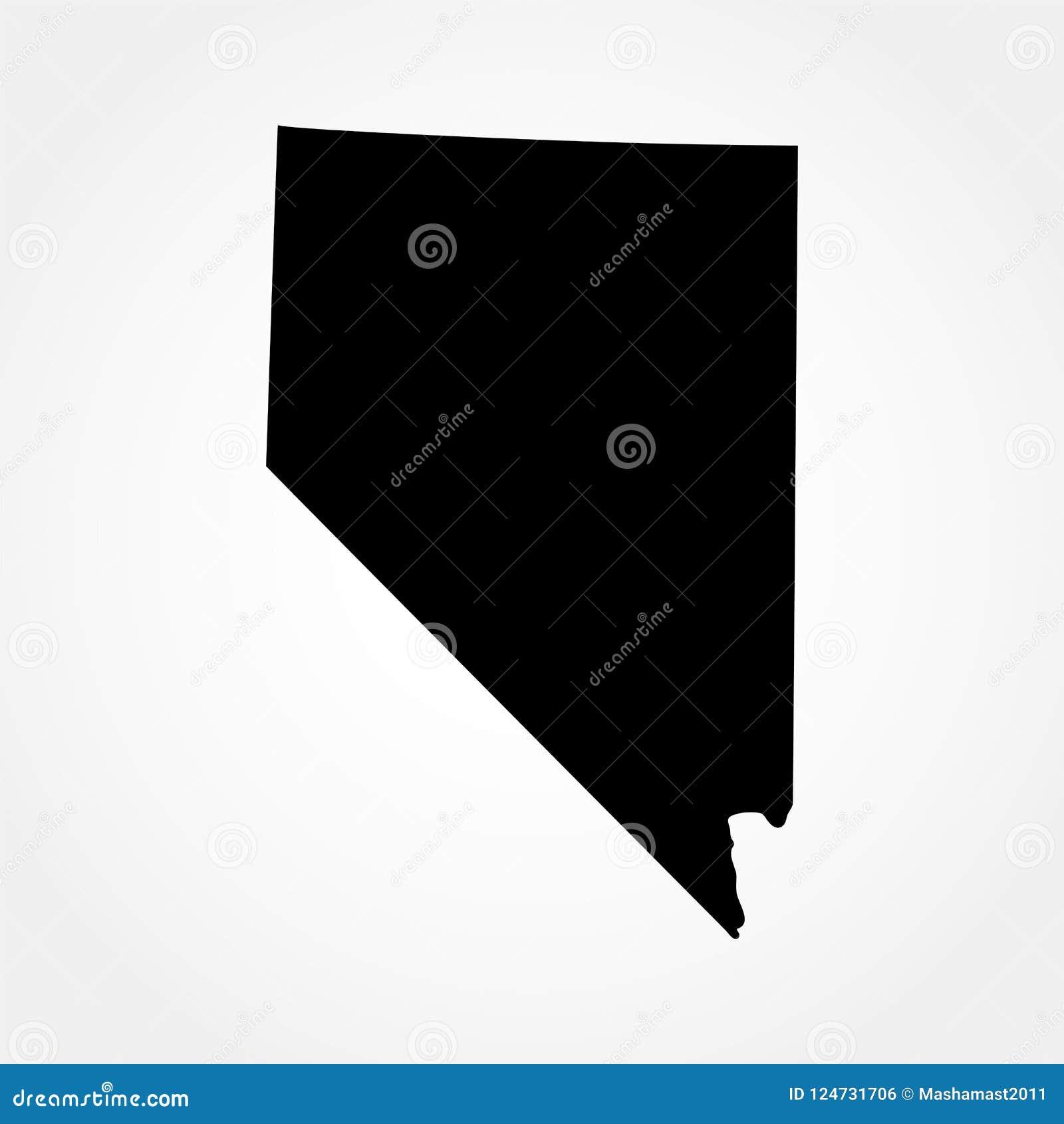 Mapa del U S Estado de Nevada