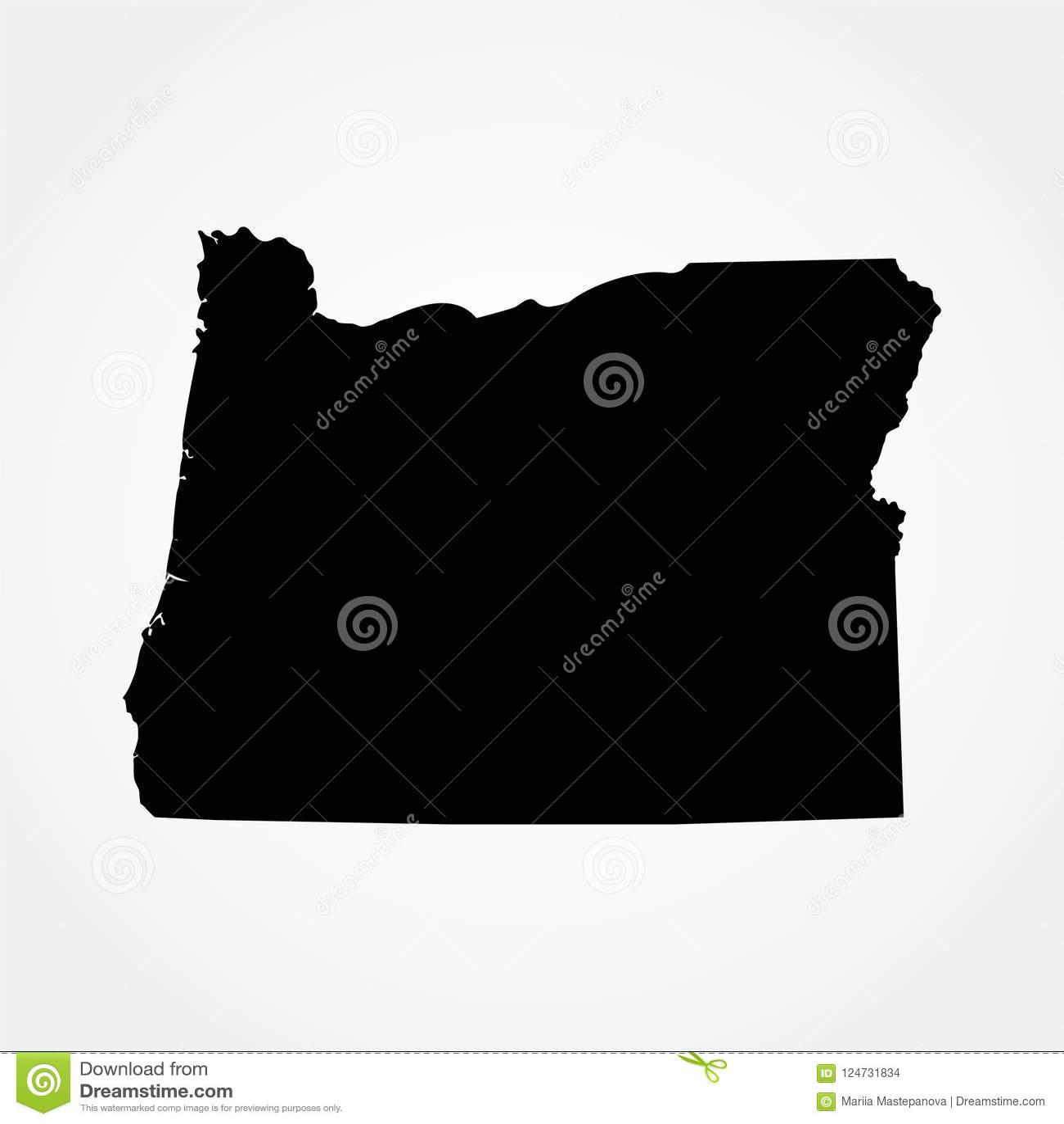 Mapa del U S Estado de Oregon