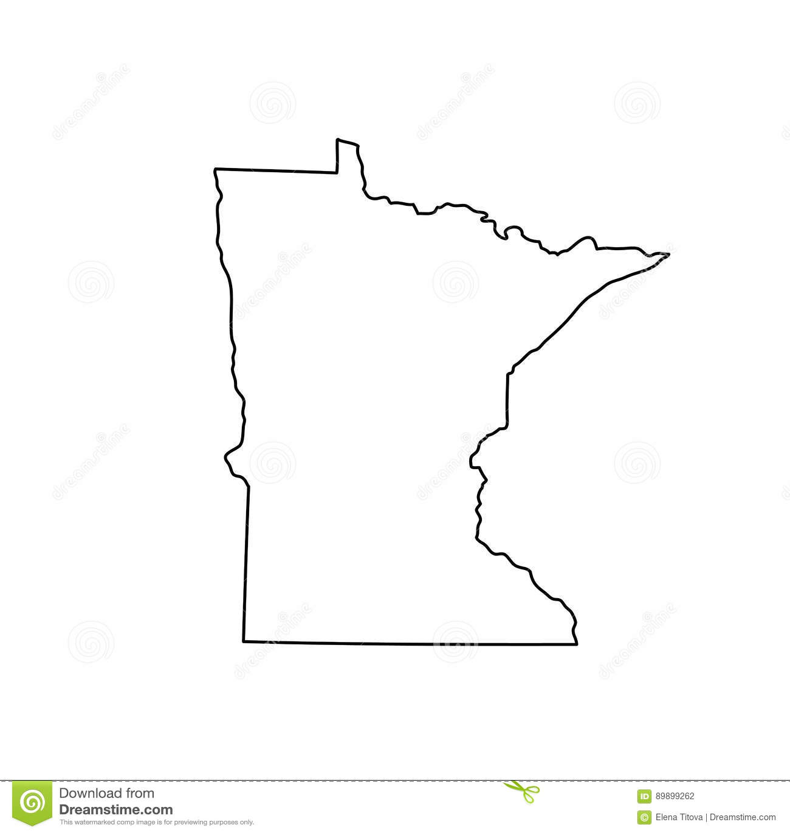 Mapa del U S estado Minnesota