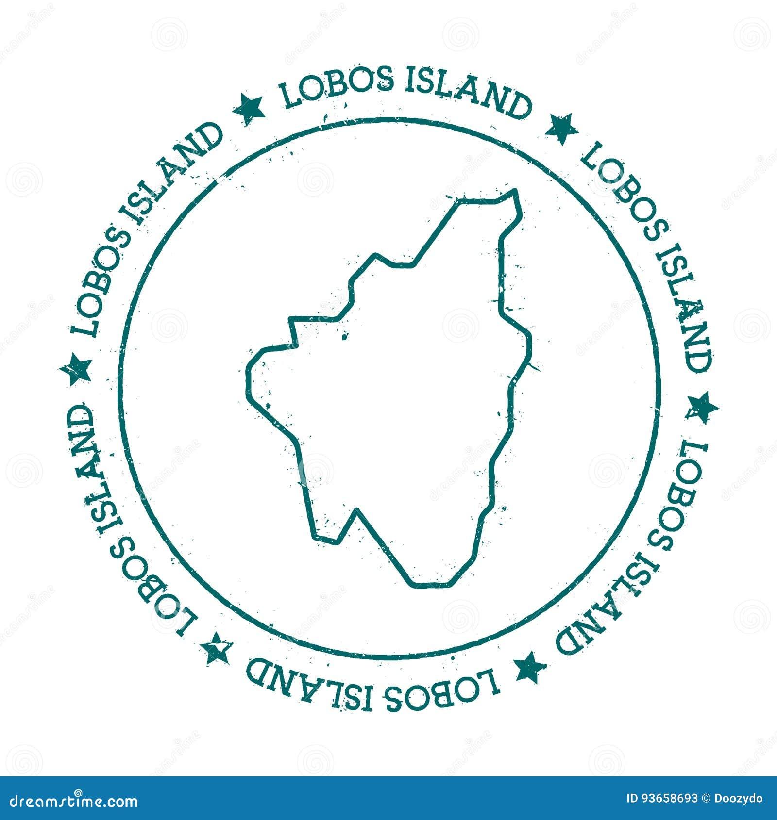 Isla De Lobos Mapa.Mapa Del Vector De La Isla De Lobos Ilustracion Del Vector