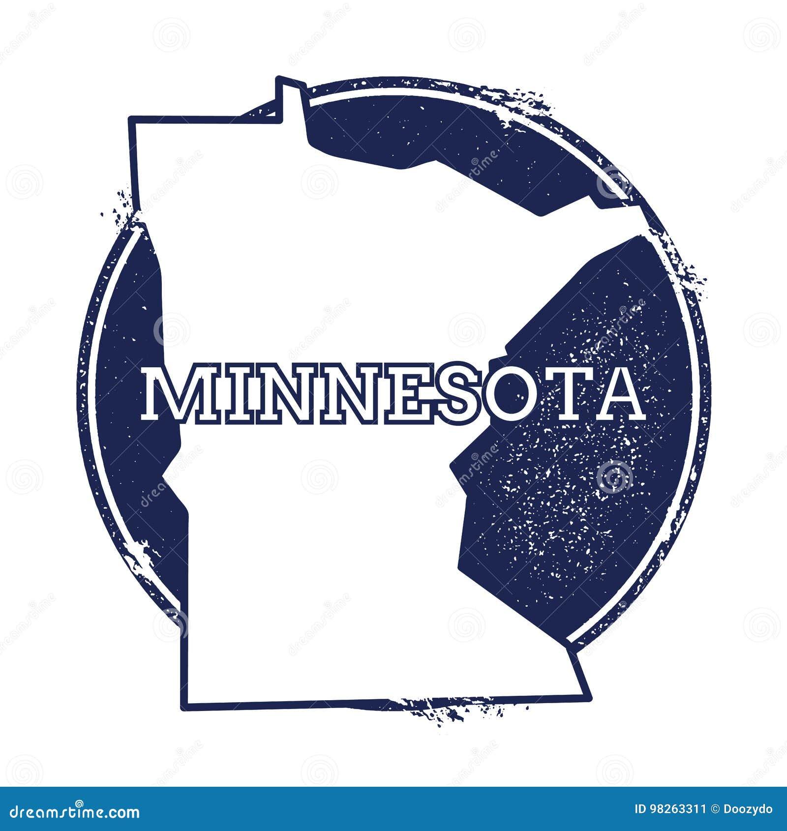 Mapa del vector de Minnesota