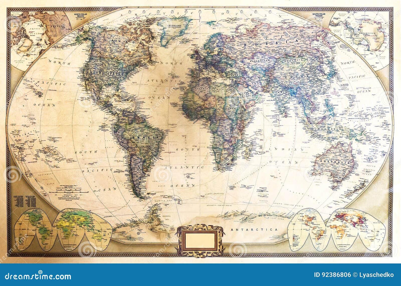 Mapa detalhado do mundo