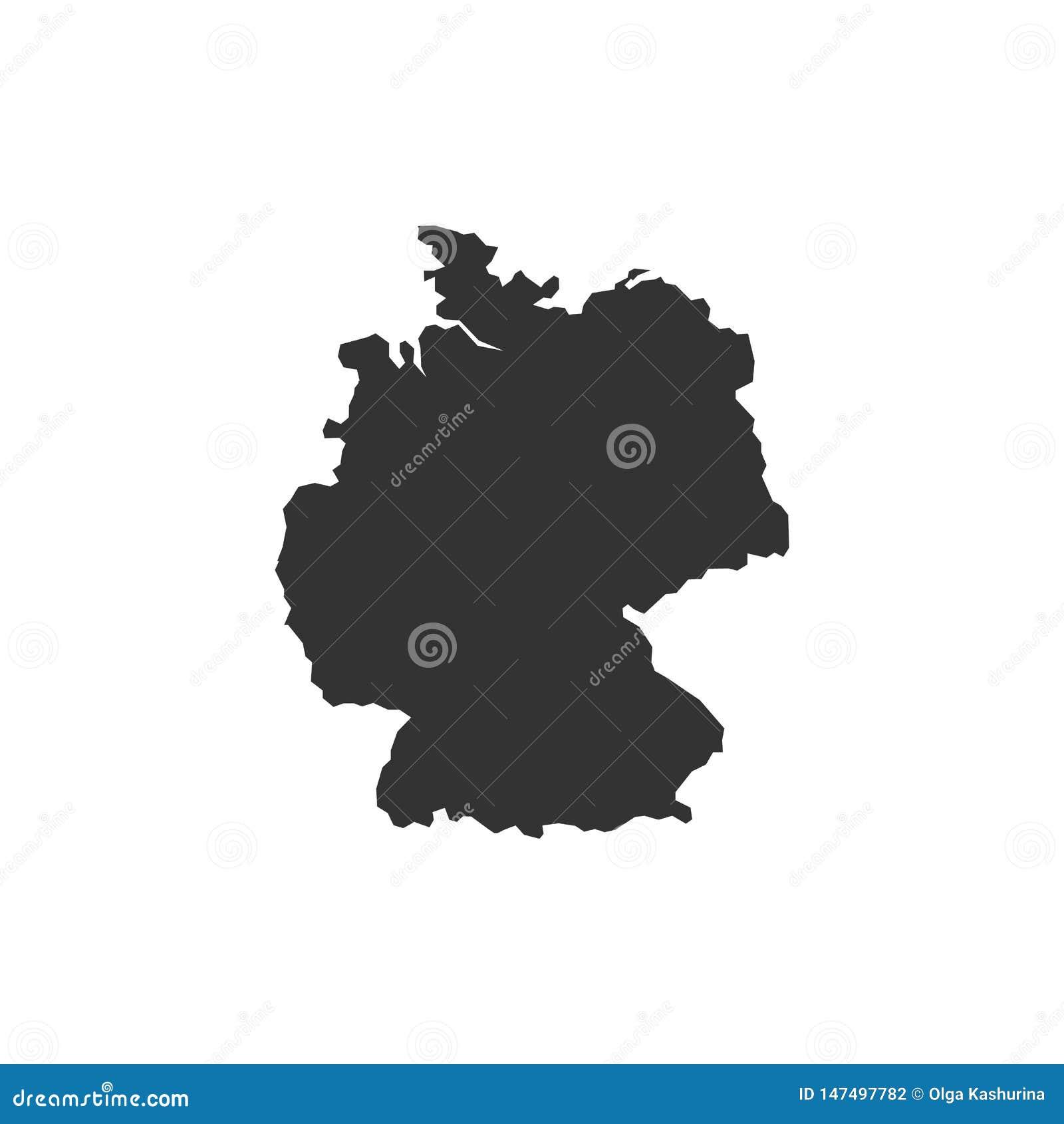 Mapa detallado del vector - Alemania - vector