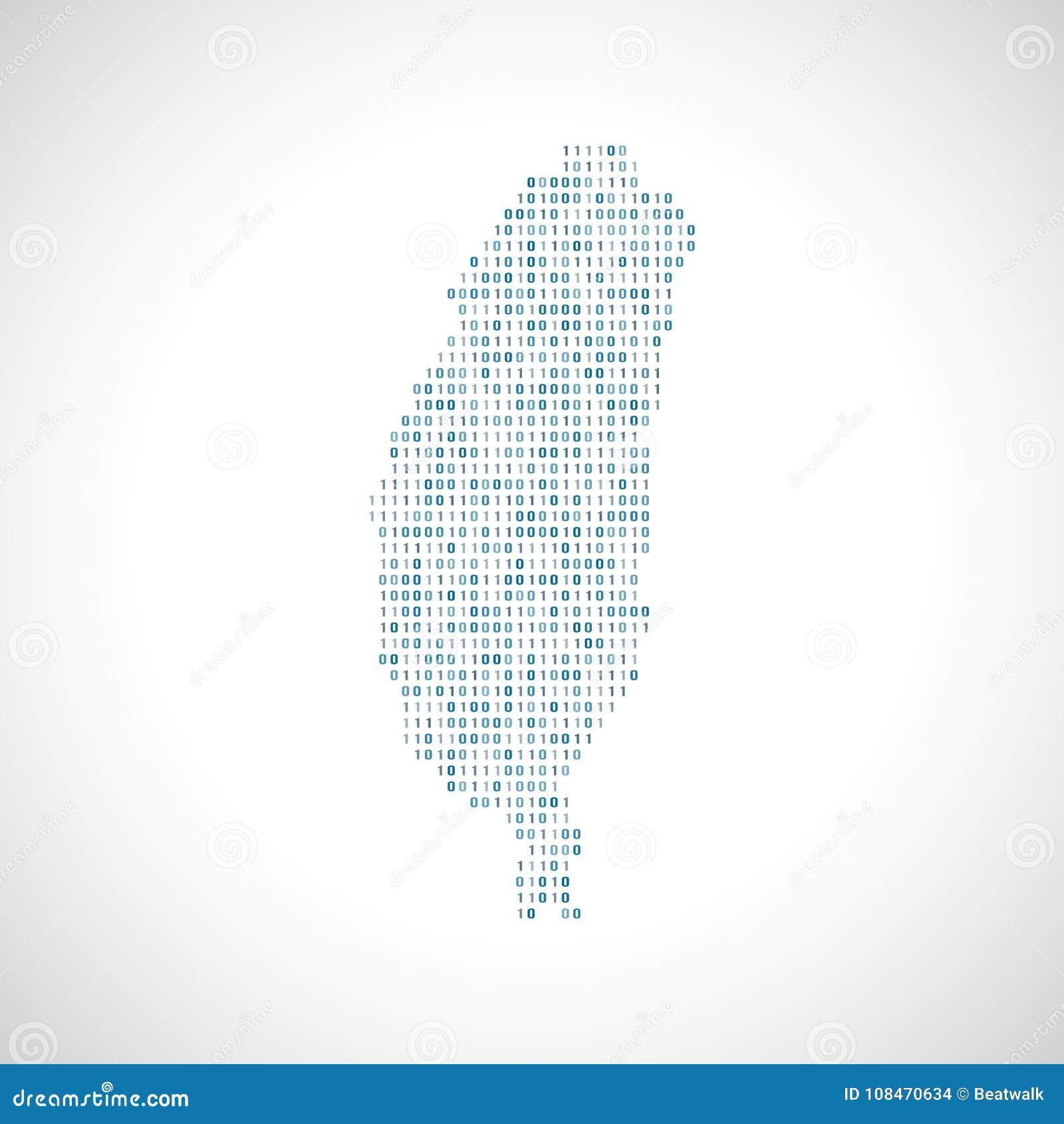 Mapa digital binário de Taiwan