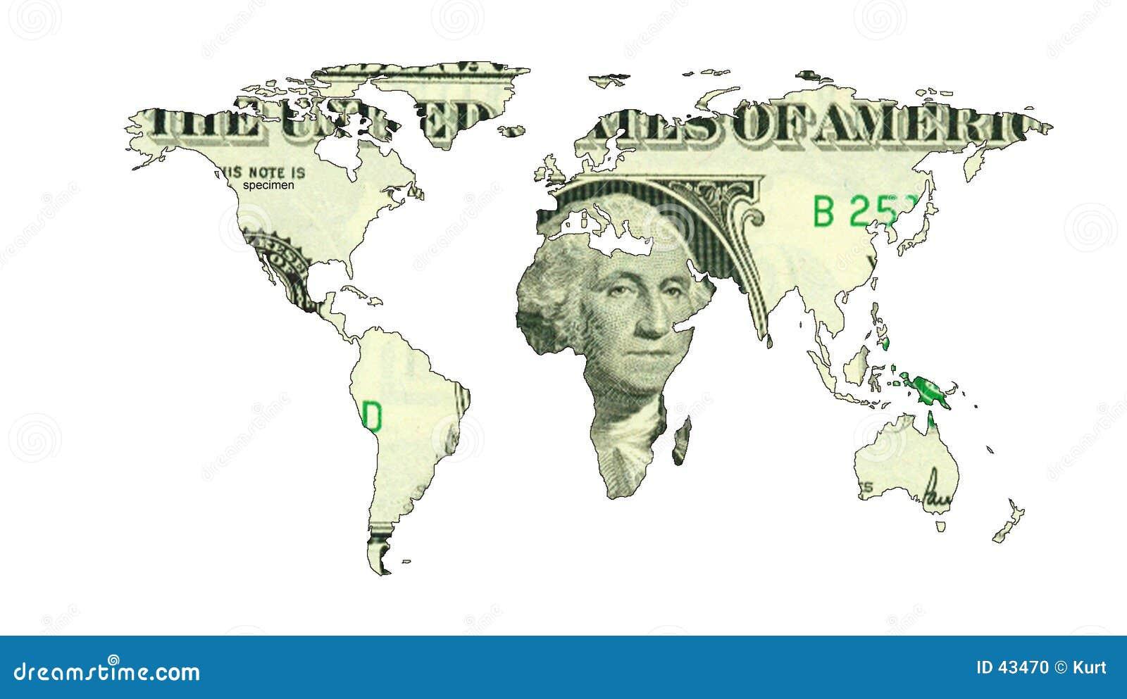 Mapa do dólar do mundo