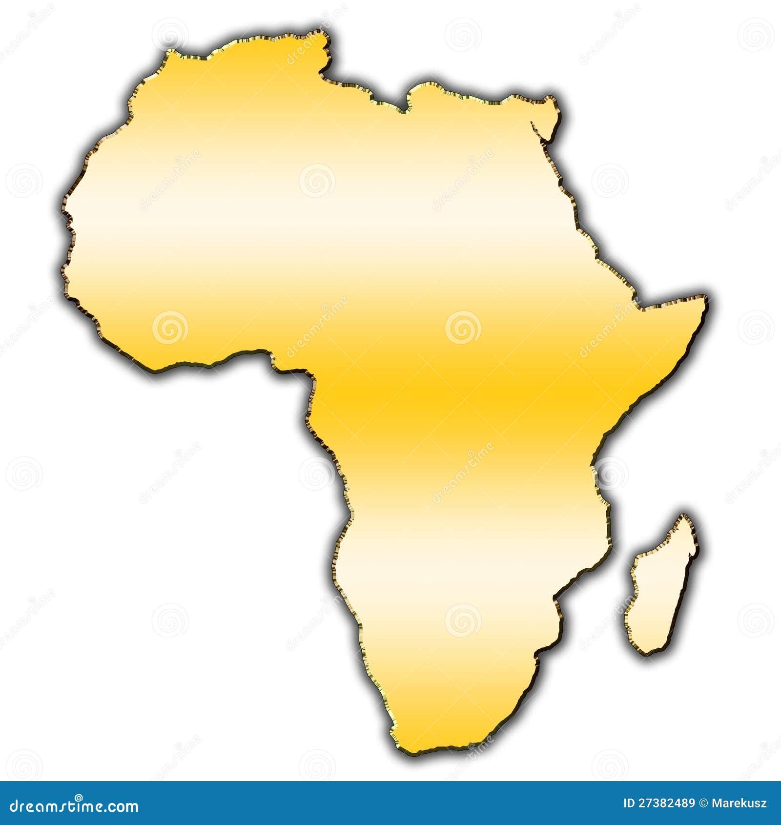 Mapa do esboço de África