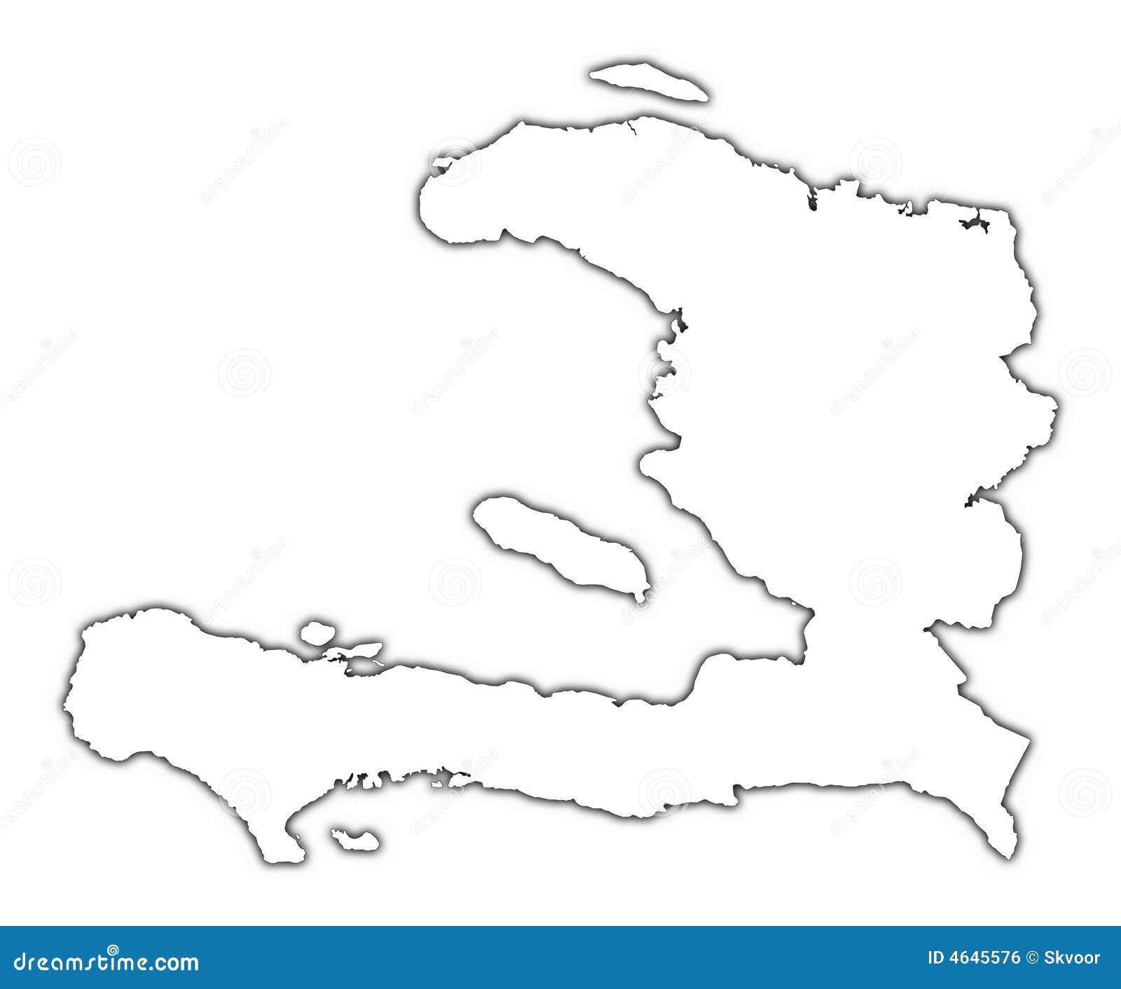 Mapa do esboço de Haiti