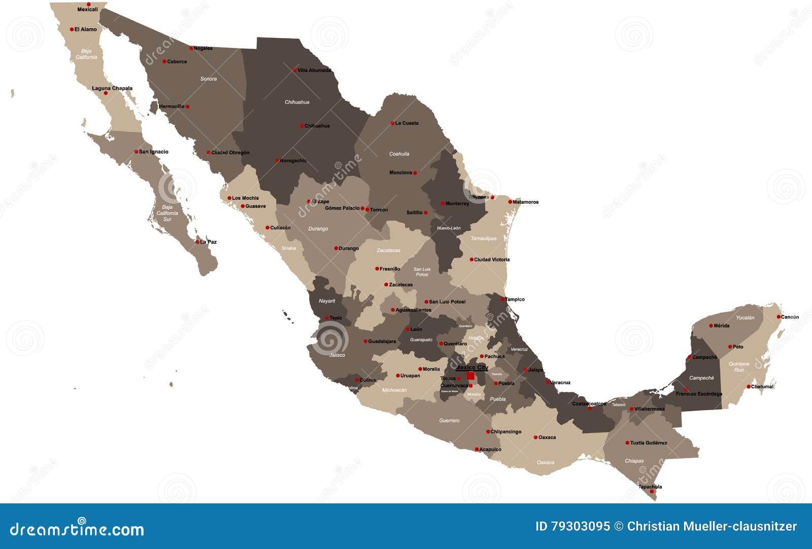 Mapa do Meksyku