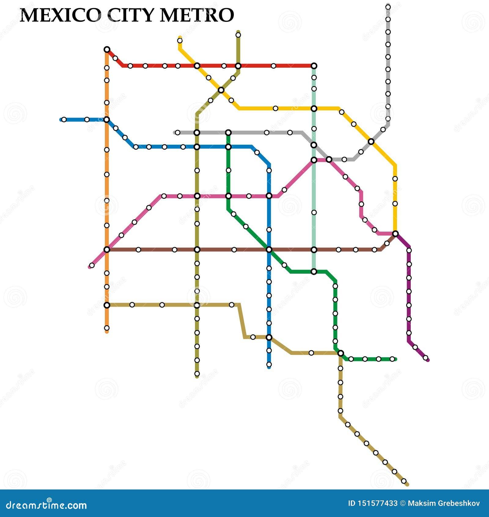 Mapa do metro, metro