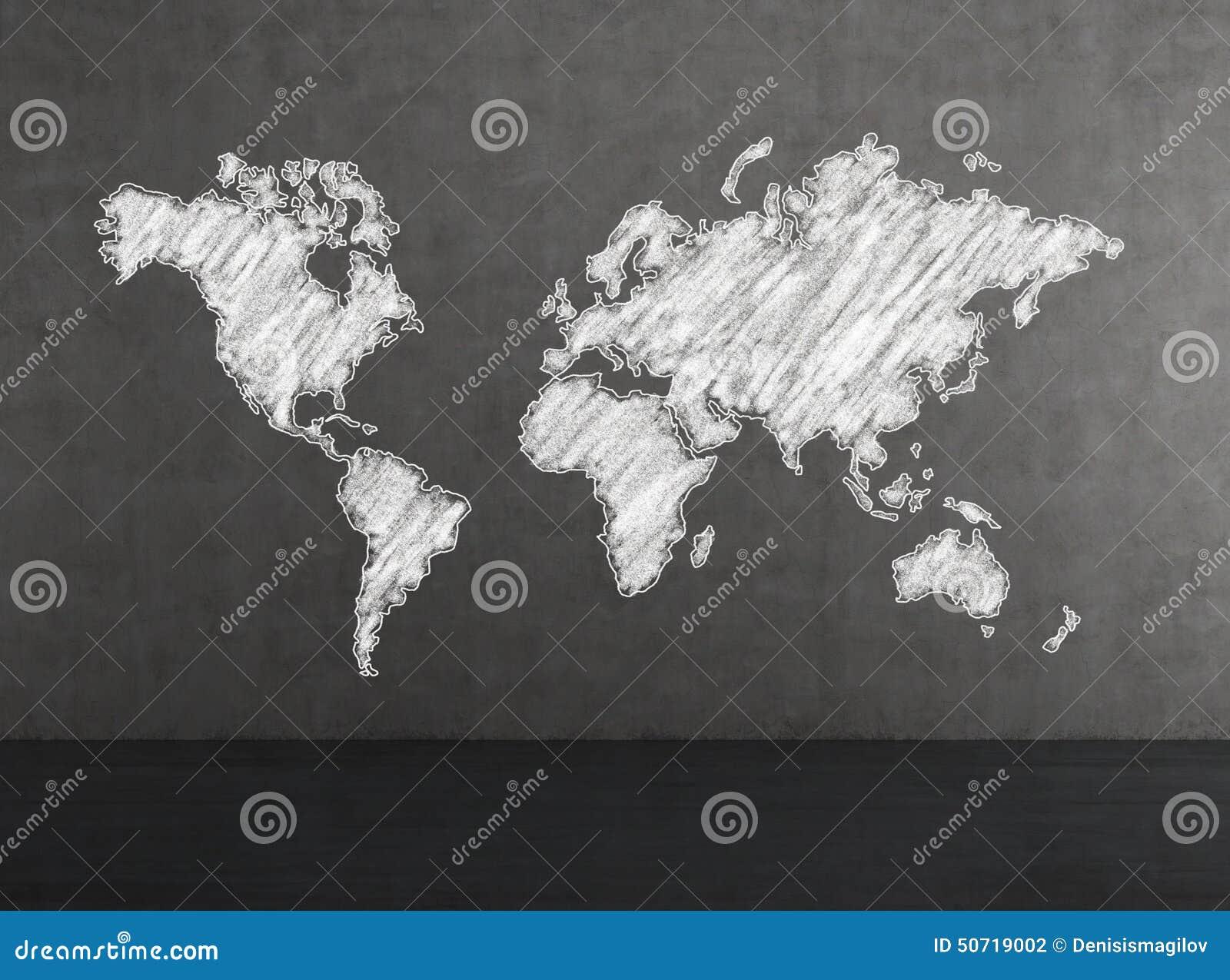 Mapa do mundo branco
