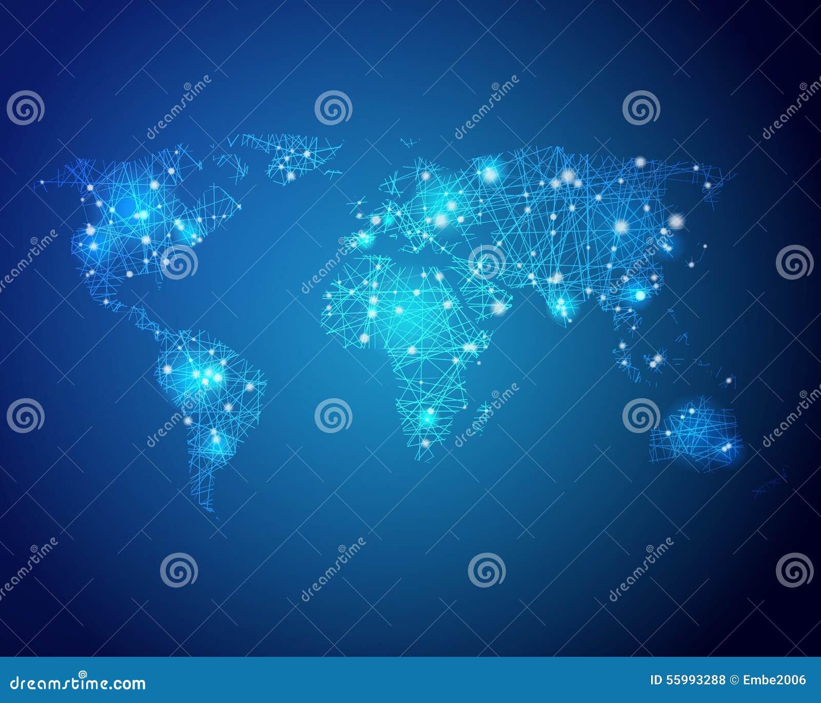 Mapa do mundo da tecnologia