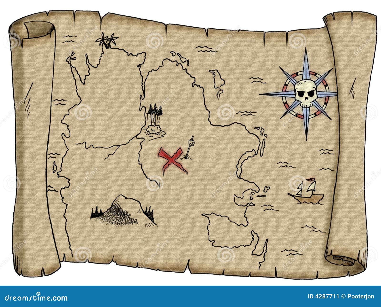 Mapa do tesouro do pirata