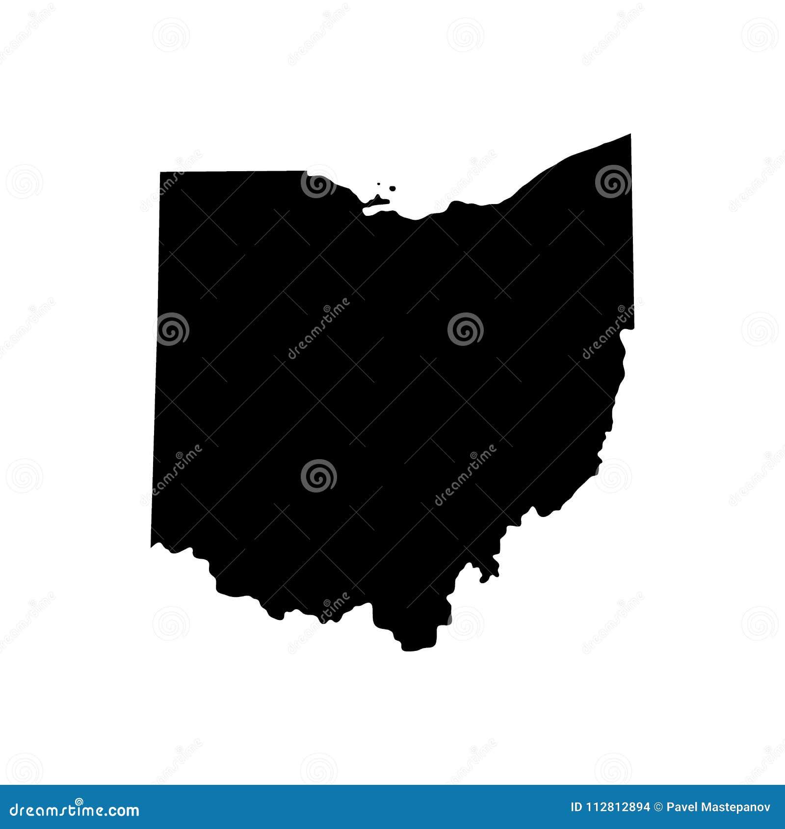 Mapa do U S Estado de Ohio