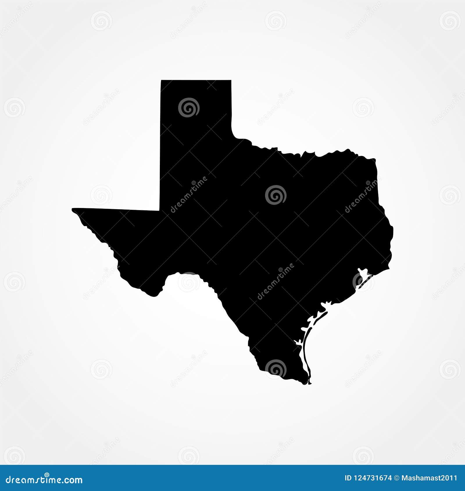 Mapa do U S Estado de texas