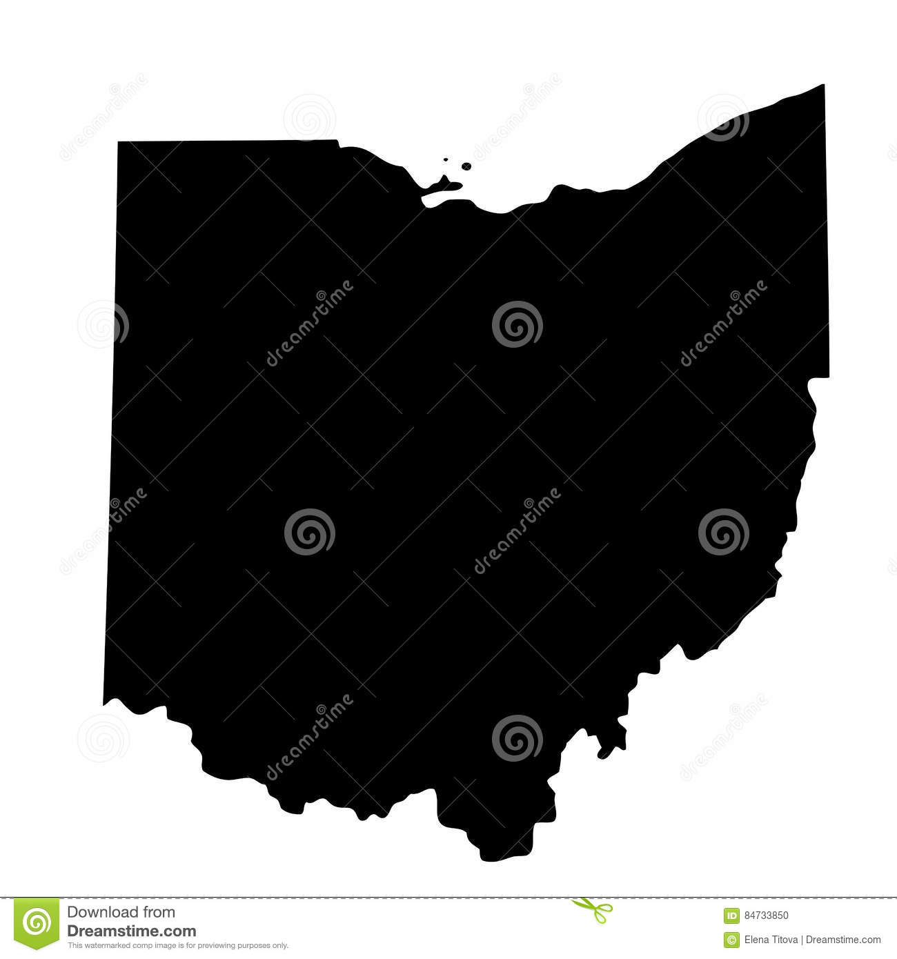 Mapa do U S Estado Ohio