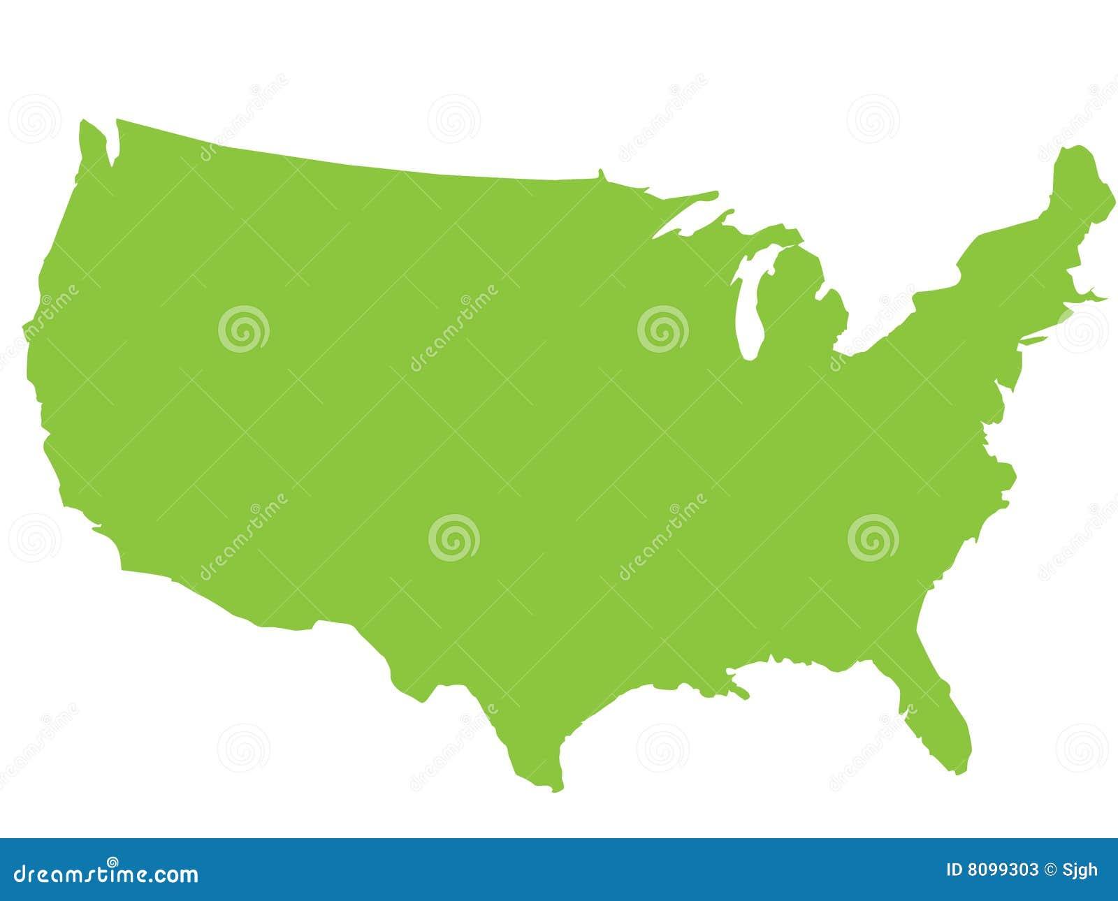 Mapa dos EUA
