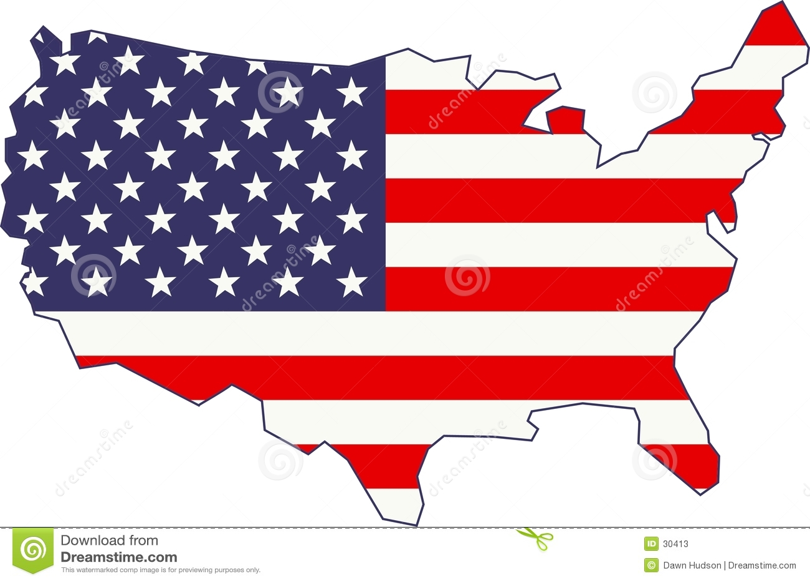 Mapa e bandeira americanos