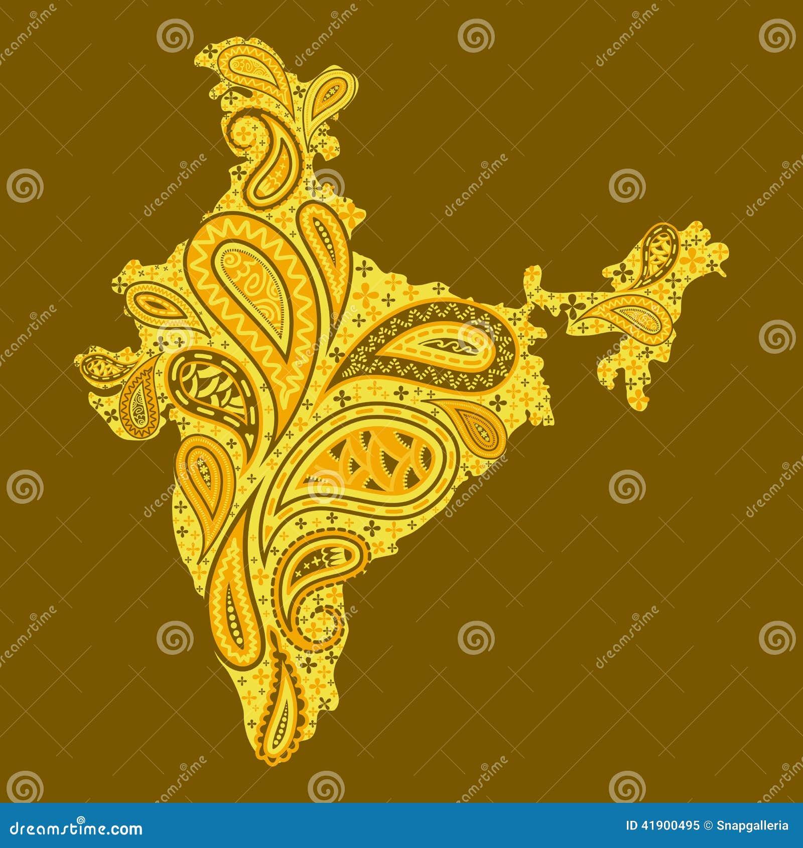 Mapa floral de la India