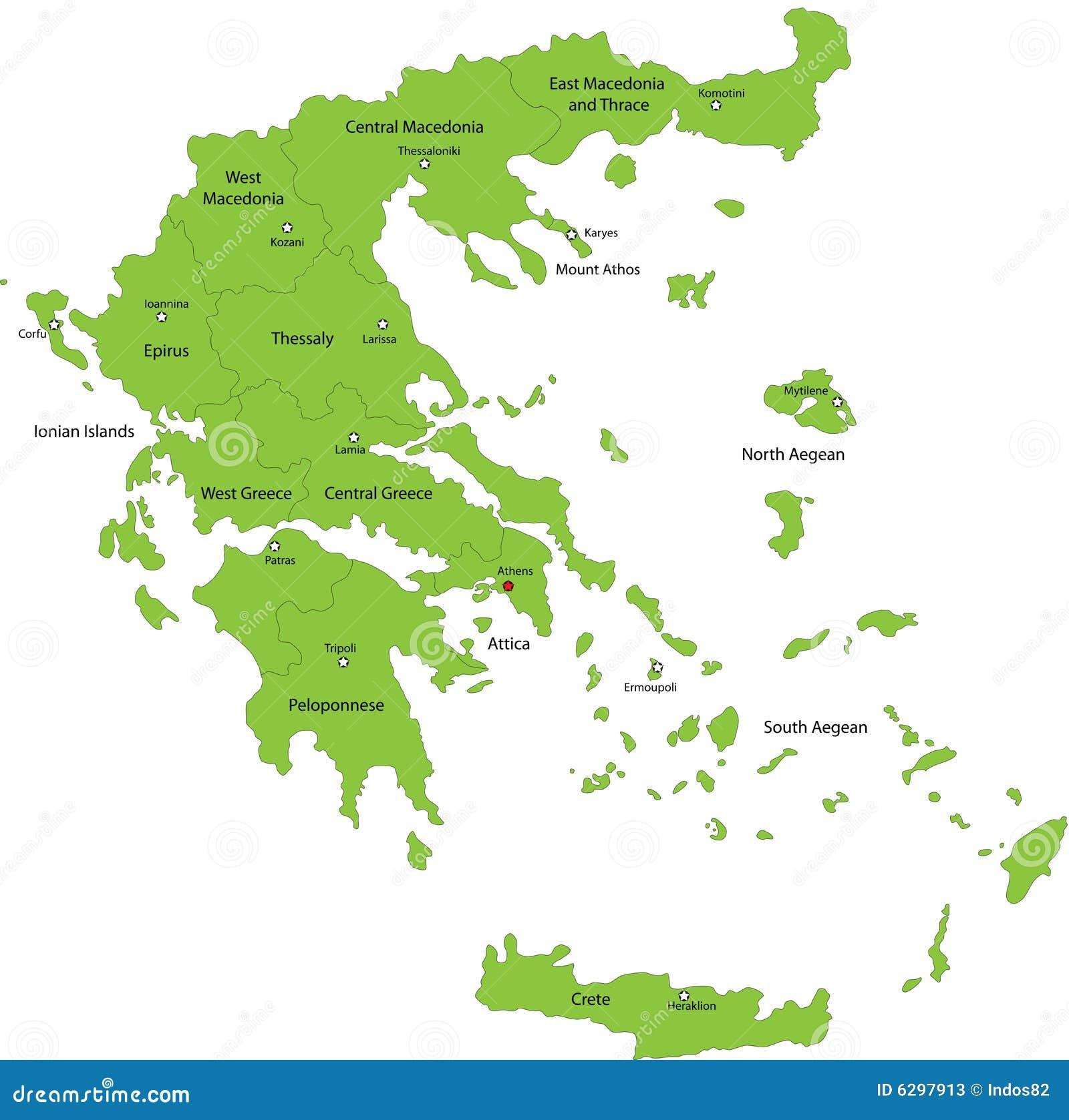 Mapa Grecja