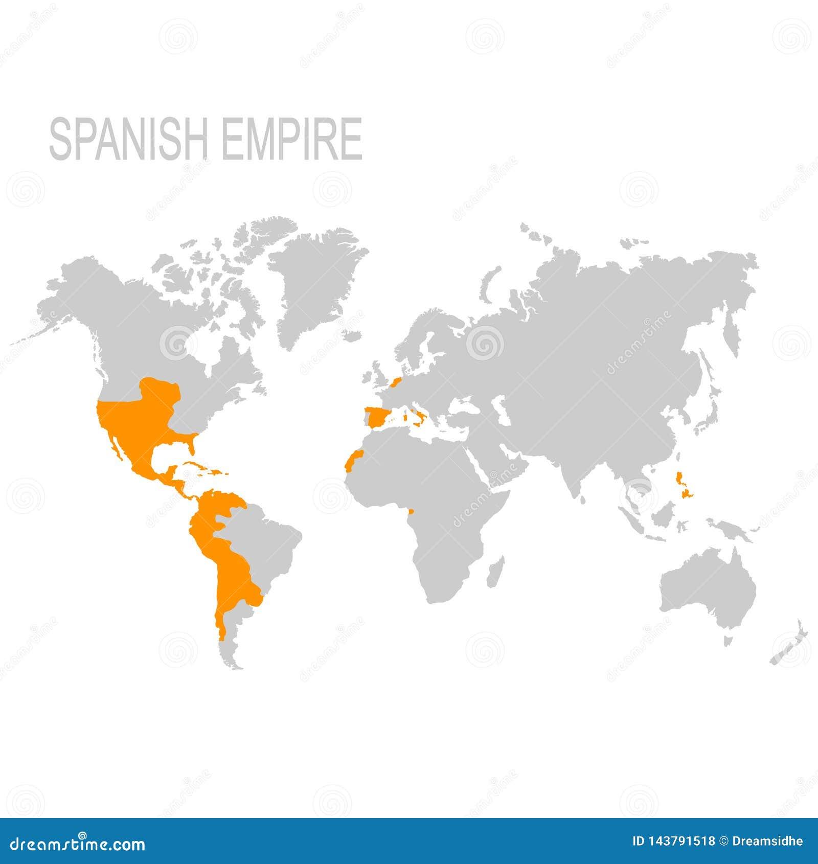 Mapa Hiszpański imperium